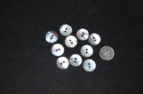 ABC Shell Button 2 Hole 15mm