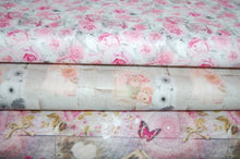 Fabric Shack Sewing Quilting Sew Fat Quarter Cotton Quilt Patchwork Dressmaking Laura Lancelle Stof Charme Romantic Roses Flowers Floral Butterfly Butterflies Pink Ribbon Letters Bicycle Love Romance Paris (2)