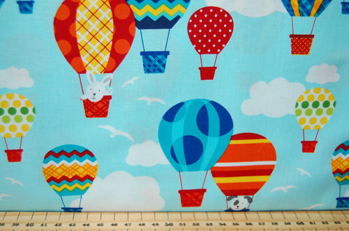 Fabric Shack Sewing Quilting Sew Fat Quarter Cotton Quilt Patchwork Dressmaking Laura Stone Studio E Off We Go Dog Rabbit Animal Balloon Car Truck Traffic Road Cones Stop Go Light Dumper Digger Lorry (3)