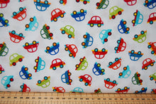 Fabric Shack Sewing Quilting Sew Fat Quarter Cotton Quilt Patchwork Dressmaking Laura Stone Studio E Off We Go Dog Rabbit Animal Balloon Car Truck Traffic Road Cones Stop Go Light Dumper Digger Lorry (4)
