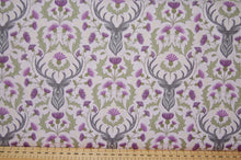 Fabric Shack Sewing Quilting Sew Fat Quarter Cotton Quilt Patchwork Dressmaking Lewis and & Irene Celtic Reflections Scottish Scotland Thistle Stag Scotty Highland Metallic Purple Lavender (2)