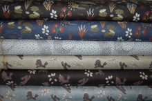 Fabric Shack Sewing Quilting Sew Fat Quarter Cotton Quilt Patchwork Dressmaking Lewis & and Irene Water Meadow Duck Hare Rabbit Otter Frog Pond Starling Murmuration Black Blue Grey Bird Flock (2)
