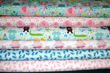 Fabric Shack Sewing Quilting Sew Fat Quarter Cotton Quilt Patchwork Dressmaking Lori Whitlock Riley Blake Sweet Baby Boy Girl Blue Pink Nursery Lion Teddy Hippo Bear Giraffe Rompers Footprints (2)