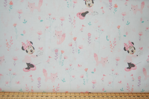 Fabric Shack Sewing Quilting Sew Fat Quarter Cotton Quilt Patchwork Dressmaking Minnie Mickey Mouse Pink Fox