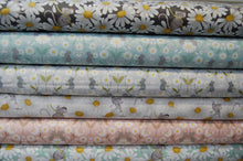 Fabric Shack Sewing Quilting Sew Fat Quarter Cotton Quilt Patchwork Dressmaking Nursery Kids Mice Mouse Daisy Daisies Floral Flower Lewis and Irene Love Me Love Me Not He Loves Pink Grey Blue Cr (5)