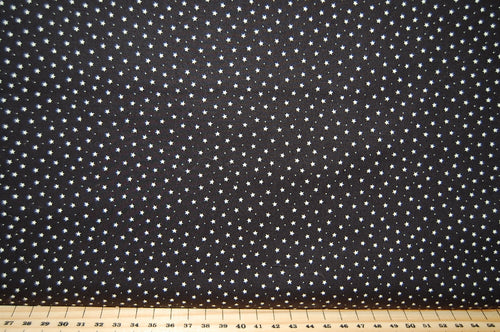 Fabric Shack  Sewing Quilting Sew Fat Quarter Cotton Quilt Patchwork Dressmaking Rose & Hubble Night Sky Mini Stars Black