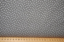 Fabric Shack  Sewing Quilting Sew Fat Quarter Cotton Quilt Patchwork Dressmaking Rose & Hubble Night Sky Mini Stars Light Grey