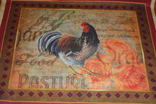 3 Wishes 'Rustic Roosters' Cockerel Panel