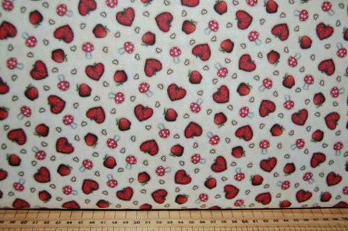 Fabric Shack Sewing Quilting Sew Fat Quarter Cotton Quilt Patchwork Dressmaking Santoro London QT Fabrics Gorjuss My Story Panel Hearts Mushrooms Cartoon Character Cat Fox (16)