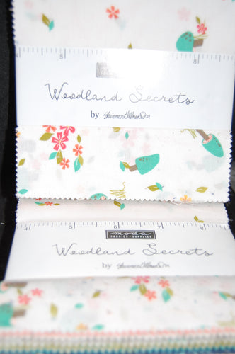 Fabric Shack Sewing Quilting Sew Fat Quarter Cotton Quilt Patchwork Dressmaking Shannon Gillmann Orr Moda Woodland Secrets Natural Flower Floral Charm Pack Pre-Cut Squares