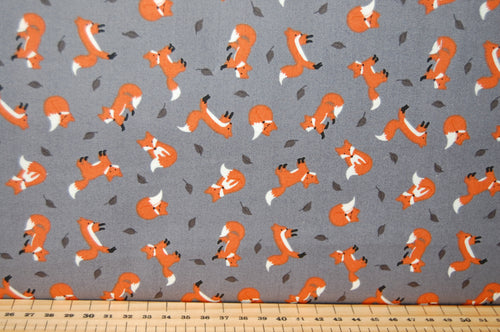 Fabric Shack Sewing Quilting Sew Fat Quarter Cotton Quilt Patchwork Dressmaking Small Things Country Creatures Lewis & and Irene Otter Hedgehog Fox Foxes Otter Mice Mouse Cheese Autumn Leaves