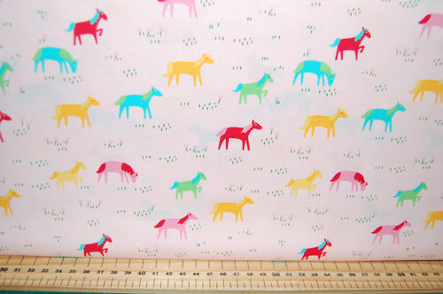 Fabric Shack Sewing Quilting Sew Fat Quarter Cotton Quilt Patchwork Dressmaking Stacey Iest Hsu Moda Best Friends Forever Multi Ethnic Panel Pony Horse Windmill Doll Dollies Toys Playhouse Play (5)