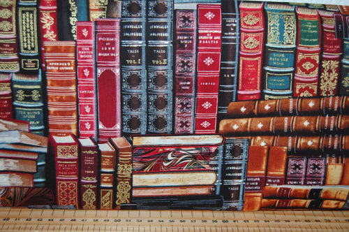 Fabric Shack Sewing Quilting Sew Fat Quarter Cotton Quilt Patchwork Dressmaking Timeless Treasures Library Book Shelf books