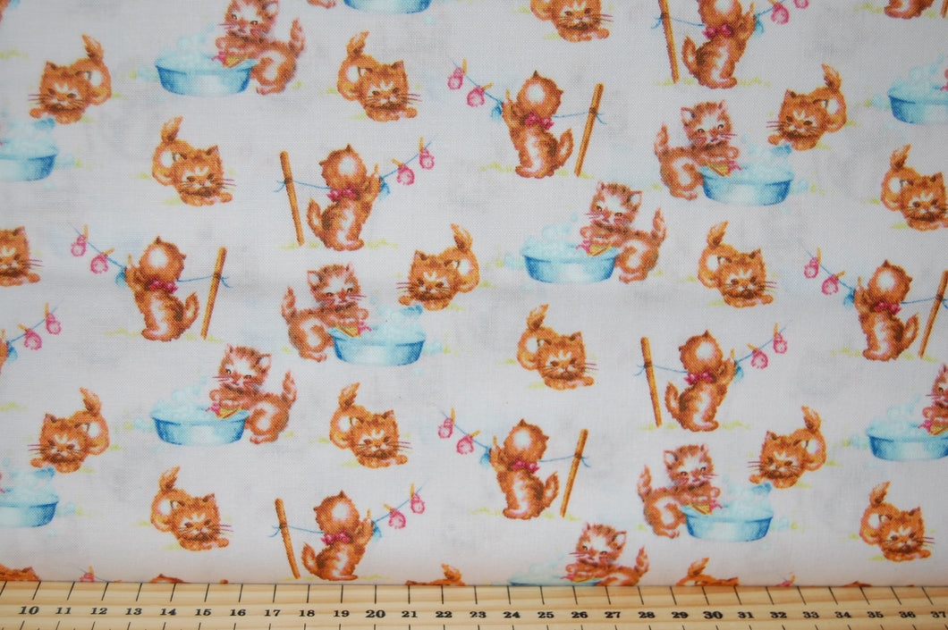 Fabric Shack Sewing Quilting Sew Fat Quarter Cotton Quilt Patchwork Dressmaking Washington Street Studio That's My Baby Nursery Rhymes Little Bo Peep Kittens Mittens Jack & Jill Kitsch Retro Vintage Pink