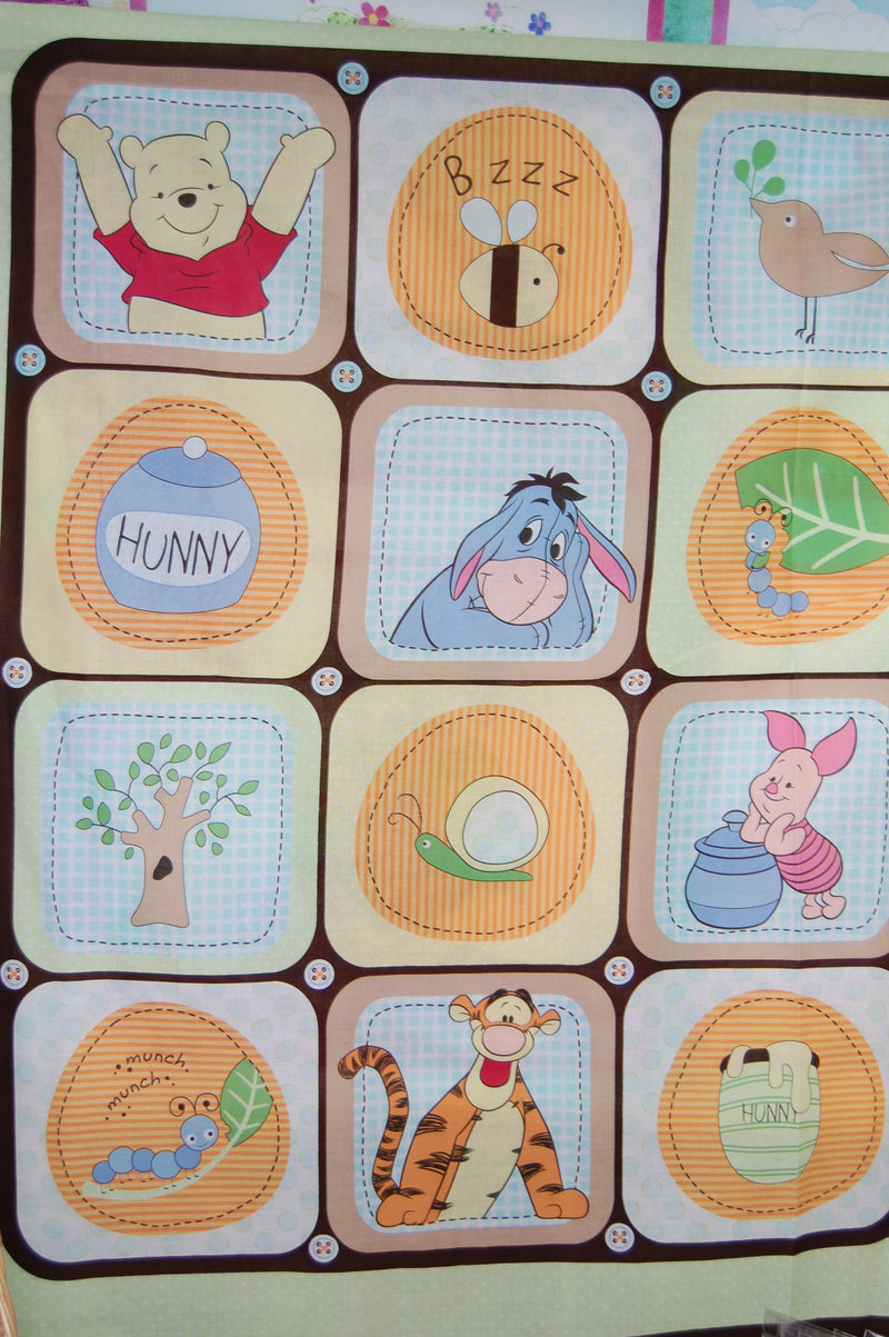WINNIE The POOH Fabric Fat Quarter Cotton Craft Quilting A Day In The Park
