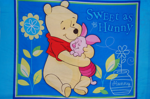 Fabric Shack Sewing Quilting Sew Fat Quarter Cotton Quilt Patchwork Panel Disney Winnie the Pooh Sweet as Hunny Honey Piglet Eeyore Tigger