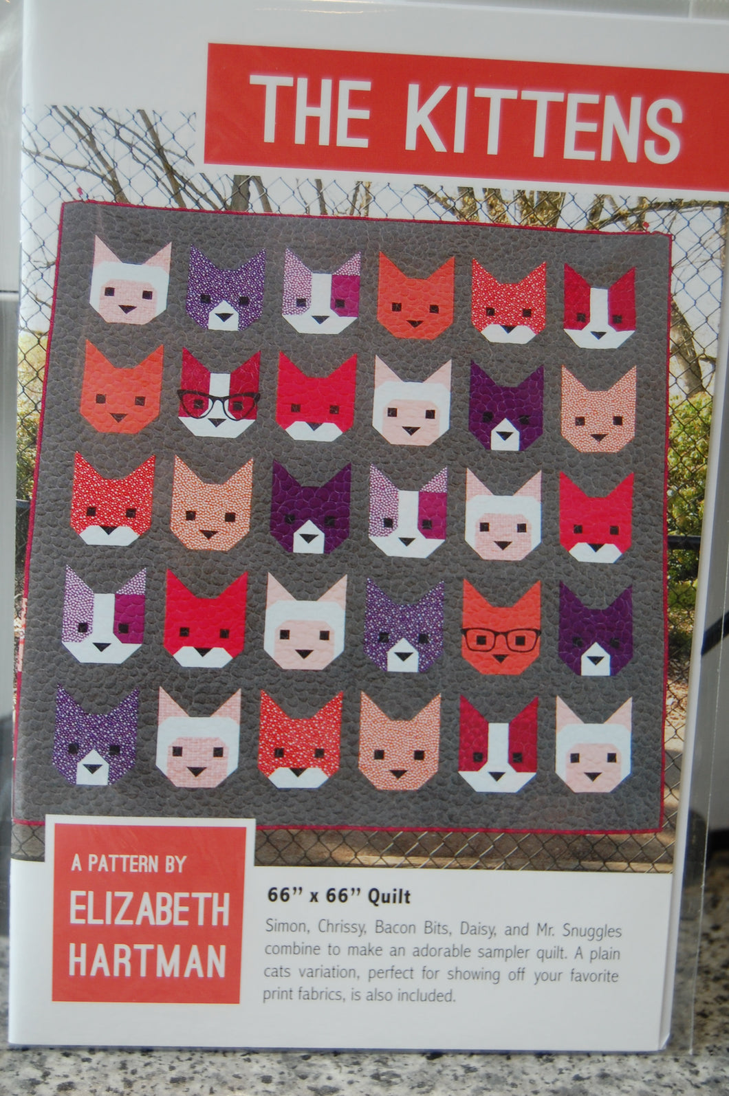 Fabric Shack Sewing Quilting Sew Fat Quarter Cotton Quilt Patchwork Pattern Elizabeth Hartman The Kittens Kitten Kitty Cat Pussy