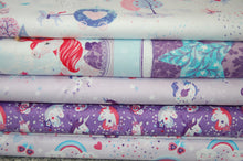 Fabric Shack Sewing Quilting Sew Fat Quarter Cotton Studio E Unicorn Unicorns Kisses Carriage Castle Cloud Start Hearts Butterflies Rainbow Magical Mystical Panel Lucie Lucy Crovatto Purple Lilac Tree Wood 2