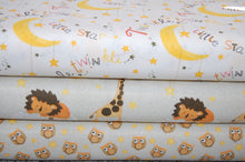 Fabric Shack Sewing Quilting Sew Fat Quarter Cotton Twinkle Twinkle Little Star Moon Lion Owl Giraffe Elephant Gender Neutral