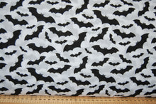 Fabric Shack Sewing Quilting Sew Fat Quarter Polycotton Cotton Polyester Patchwork Dressmaking Spooky Halloween Gothic Goth Emo Bat Skull Black White Monochrome (3)