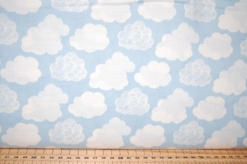 Fabric Shack Sewing Quilting Sew Fat Quartr Cotton Quilt Patchwork Dressmaking Liberty Lazenby Adventures in the Sky Space Rocket Spaceship Star Cloud Balloon Pattern Nabulae Cover Dance My Li (5)