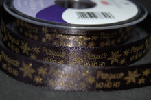 Fabric Shack Sewing Quilting Sew Ribbon Trim Gift Wrap Haberdashery Christmas Holiday  Prosecco Ho Ho Ho Fizz Drink Champagne Black Fizzy Tipple Black Silver Gold White 15 25 mm (4)