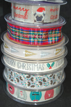 Fabric Shack Sewing Quilting Sew Ribbon Trim Gift Wrap Haberdashery Christmas Scandi Holiday Trees Metallic Jumpers Tartan Royal Stewart Pug Pudding Pud Figgy Happy Merry Holly 15 25 mm