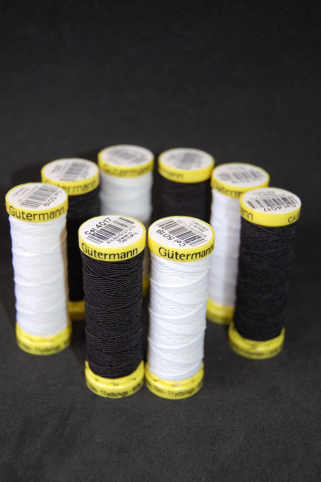 Fabric Shack Sewing Sew Cotton Shirring Shiring Elastic Black White Dressmaking Gutermann 10 Metres M