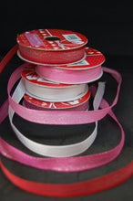 Fabric Shack Valentine Heart Pink Red White Metallic Glittery Ribbon Trim