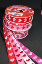 Fabric Shack Valentine Heart Pink Red White  Ribbon Trim