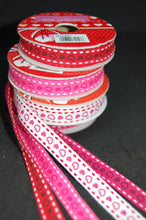 Fabric Shack Valentine Heart Pink Red White Stitches Ribbon Trim