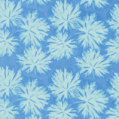 Free Spirit Nel Whatmore Ghost Geranium Blue Cotton Fabric