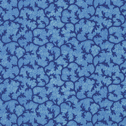 Free Spirit Tokyo Milk Neptune & the Mermaid Salt Sea Seaweed Floral Blue Pattern Cotton Fabric