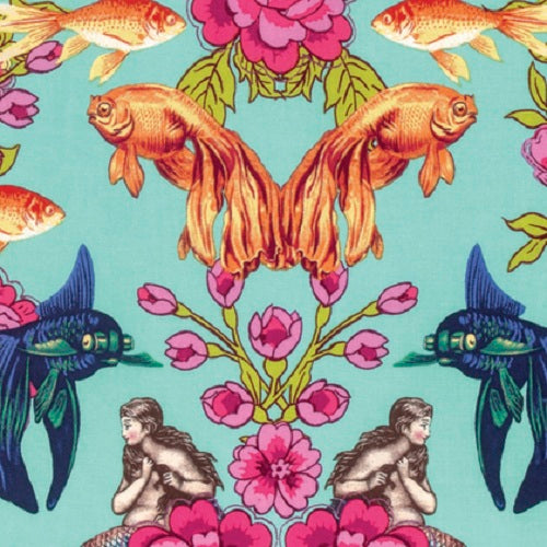Free Spirit Tokyo Milk Margot Elena Neptune & the Mermaid Atlantis Neverland Mermaid Koi Goldfish Octopus Cotton Fabric Fat Quarter