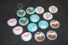 Groves Buttons Christmas Santa Robin Snowman Reindeer Ruldolp Red Nose Christmas Figgy Pudding 23mm