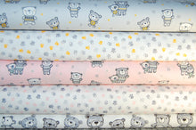 John Louden Teddy Bears Paw Prints Cotton Fabric Collection