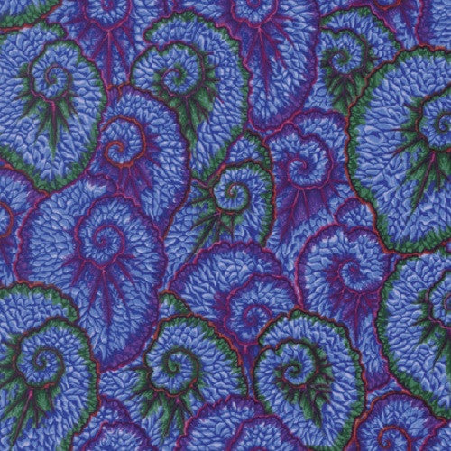 Kaffe Fassett Free Spirit 'Spring' Collection Curlique Blue