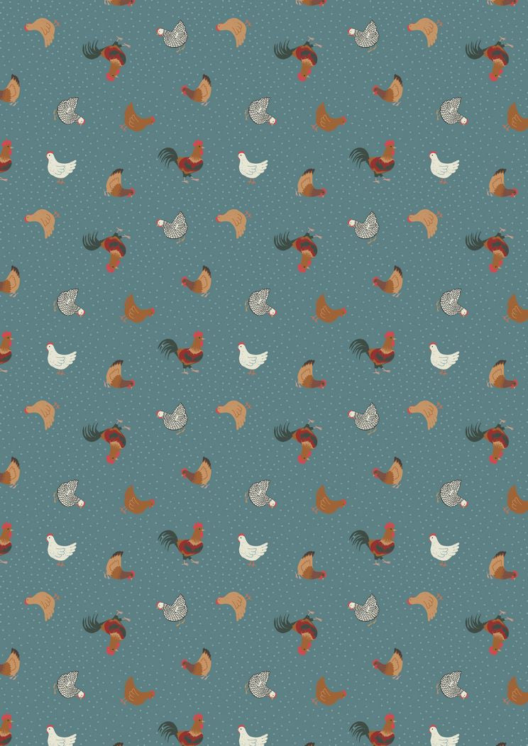 Lewis Irene Small Things on the Farm Hen Chicken Cotton Fabric