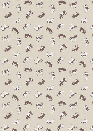 Lewis Irene Small Things on the Farm Cow Cotton Fabric