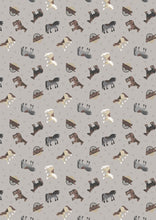 Lewis Irene Small Things on the Farm Pony Horse Cart Cotton Fabric
