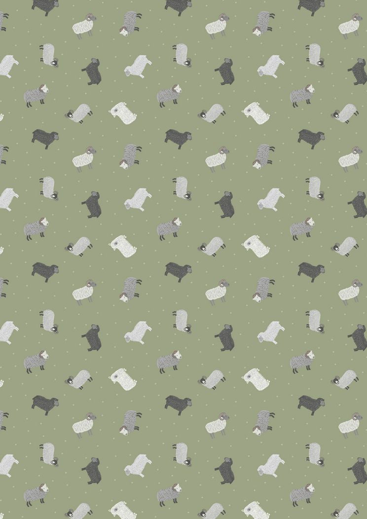 Lewis Irene Small Things on the Farm Pigs Sheep Cotton Fabric