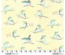 Michael Miller Butterfly Row Cotton Fabric Green Yellow