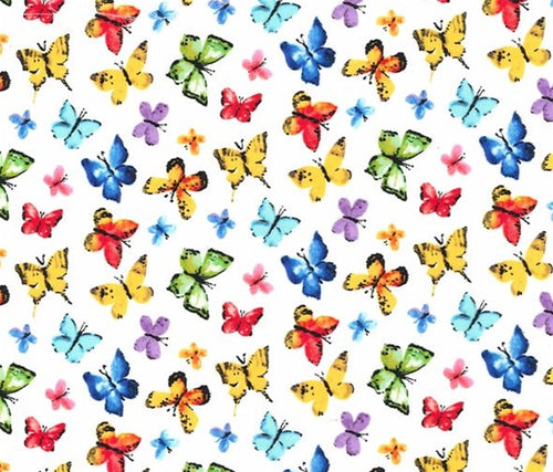 Michael Miller Garden Party Butterfly Free Cotton Fabric Multi