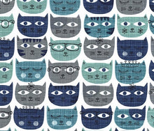 Michael Miller Sassy Cats Geek Boffin Spectacles Glasses Cotton Fabric