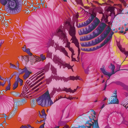 Kaffe Fassett/Free Spirit 'Spring' Shell Bouquet Red