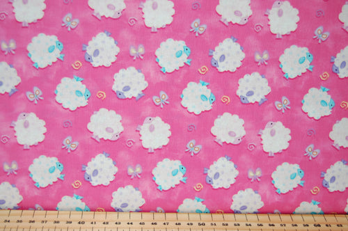 Shelly Comiskey Henry Glass & Co Fabric Shack Sewing Quilting Sew Fat Quarter Quilt Pink Blue Rabbit Bunny Hare Easter Egg Sheep Panel Woolly Chick Chicken Butterfly Butterflies Floral Flower Yellow Lemon (6)