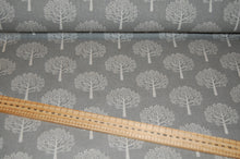 fabric shack sewing quilting sew cotton polyester linen look mulberry tree dove grey craft home curtain blinds natural  print (3)