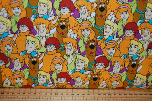 fabric shack sewing quilting sew fat quarter cotton quilt dressmaking hanna hana barbera scooby doo scrappy mystery machine thelma fred shaggy van daphne ghost hunting zoinks