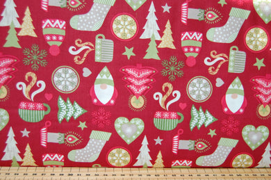 fabric shack sewing quilting sew fat quarter cotton quilt patchwork christmas holiday noel dressmaking hygge scandi trädgårdstomte tomte tonttu gnome nisse stocking tree candle snowflake star mitten (6)