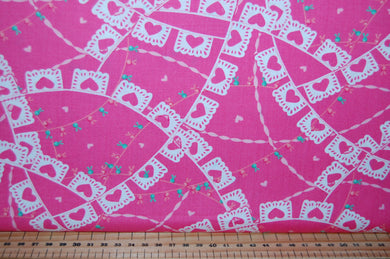 fabric shack sewing quilting sew fat quarter cotton quilt patchwork deb strain moda llama love hearts valentine valentines day cactus flower floral bunting pink white aqua blue (2)